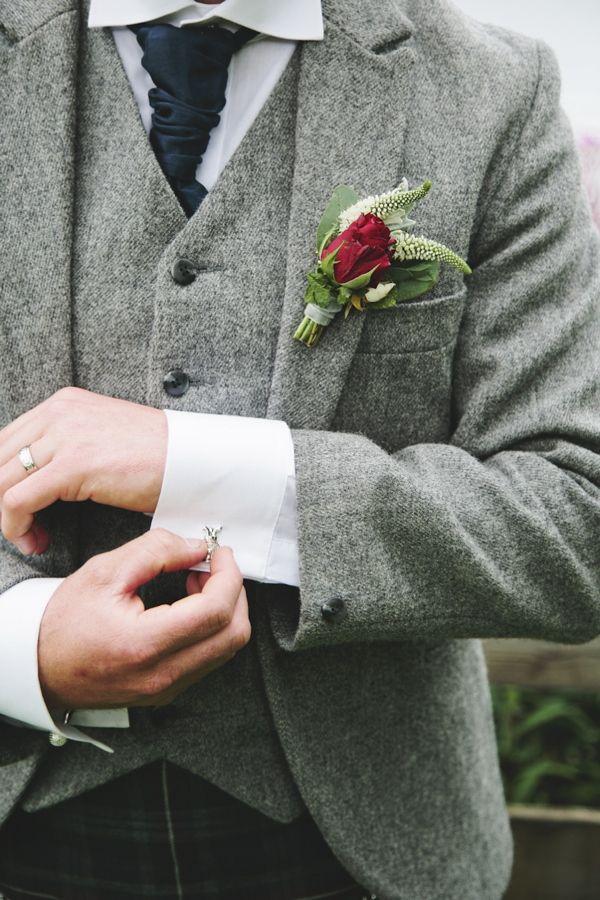 Pretty Natural Loch Lomond Wedding Tweed Groom http://www.photographychantal.co.uk/
