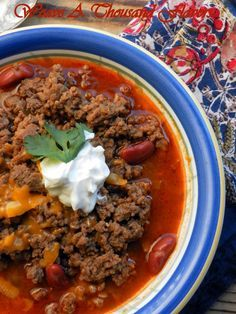 The Terlingua Red' Chili, slightly adapted from the recipe by Jim Parker, The Hard Times Cafe