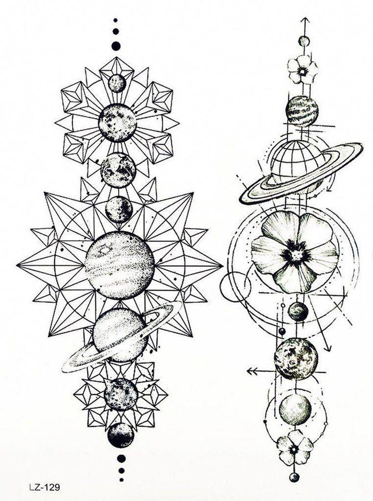 Cool Unique Black Moon Phases Temporary Tattoo Art Design Ideas Women's Teens …