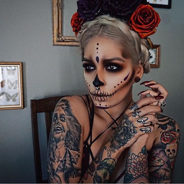 Sugar Skull MakeUp by Instagramer _megatron_