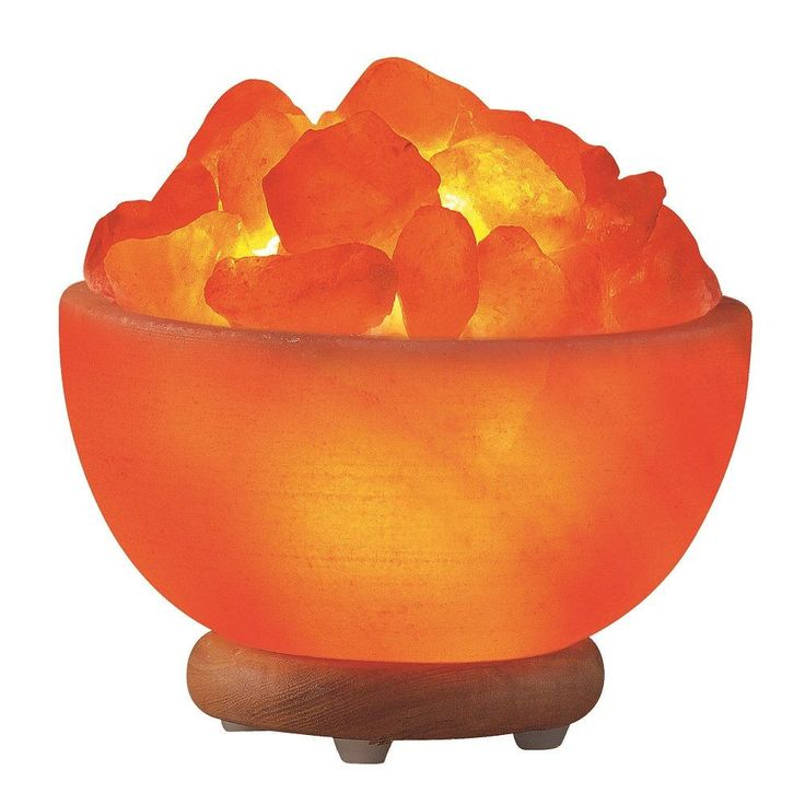 Himalayan Salt Hand Carved Bowl Lamp Orange Pinterest