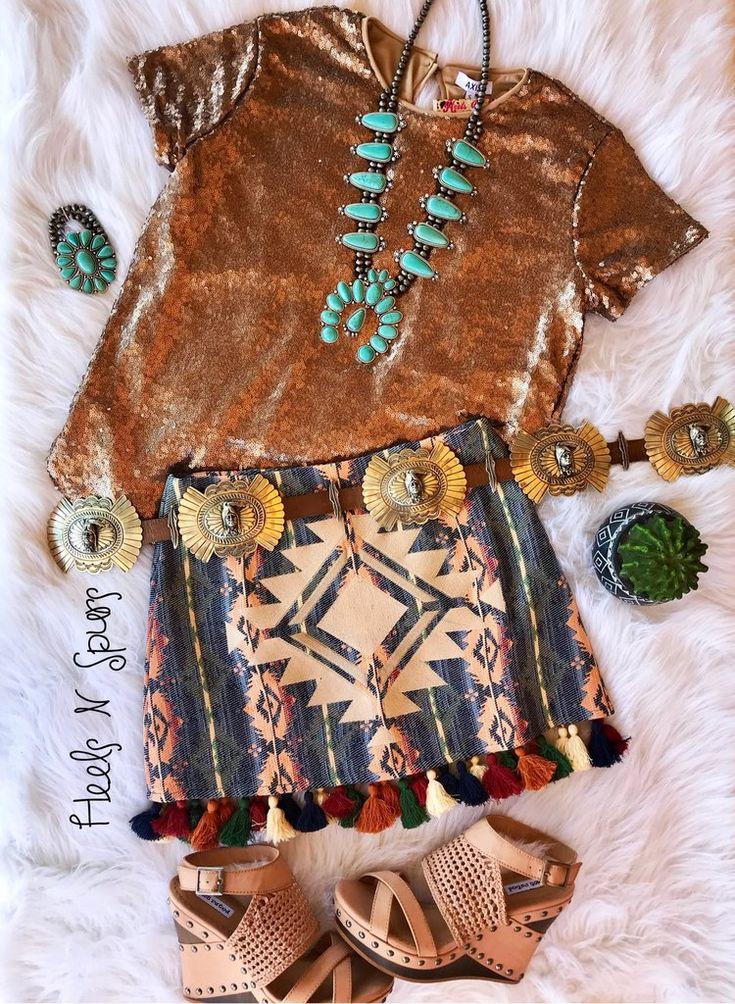 Judith March Aztec Skirt