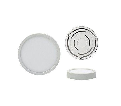 Dalle LED ronde, Panneau LED rond, Panel LED rond - Ø19cm - 18W, 240 V - 4000K blanc neutre, blanc naturel, lumière du jour - 1600 lm, 120°…