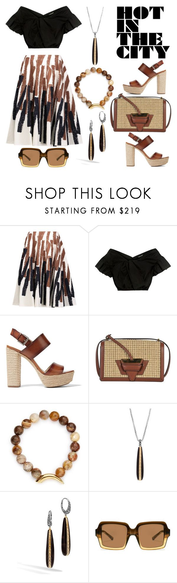 """""""Linen Skirt"""" by hastypudding ❤ liked on Polyvore featuring Marni, Rachel Comey, Michael Kors, Loewe, Pembe Club, John Hardy and The Row"""