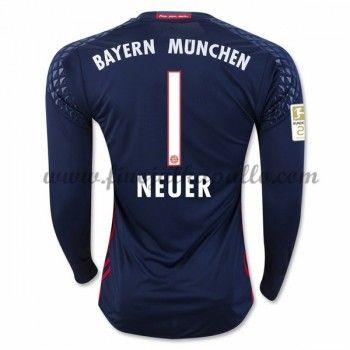 Jalkapallo Pelipaidat Bayern Munich 2016-17 Neuer 1 Maalivahdin Kotipaita Pitkähihainen