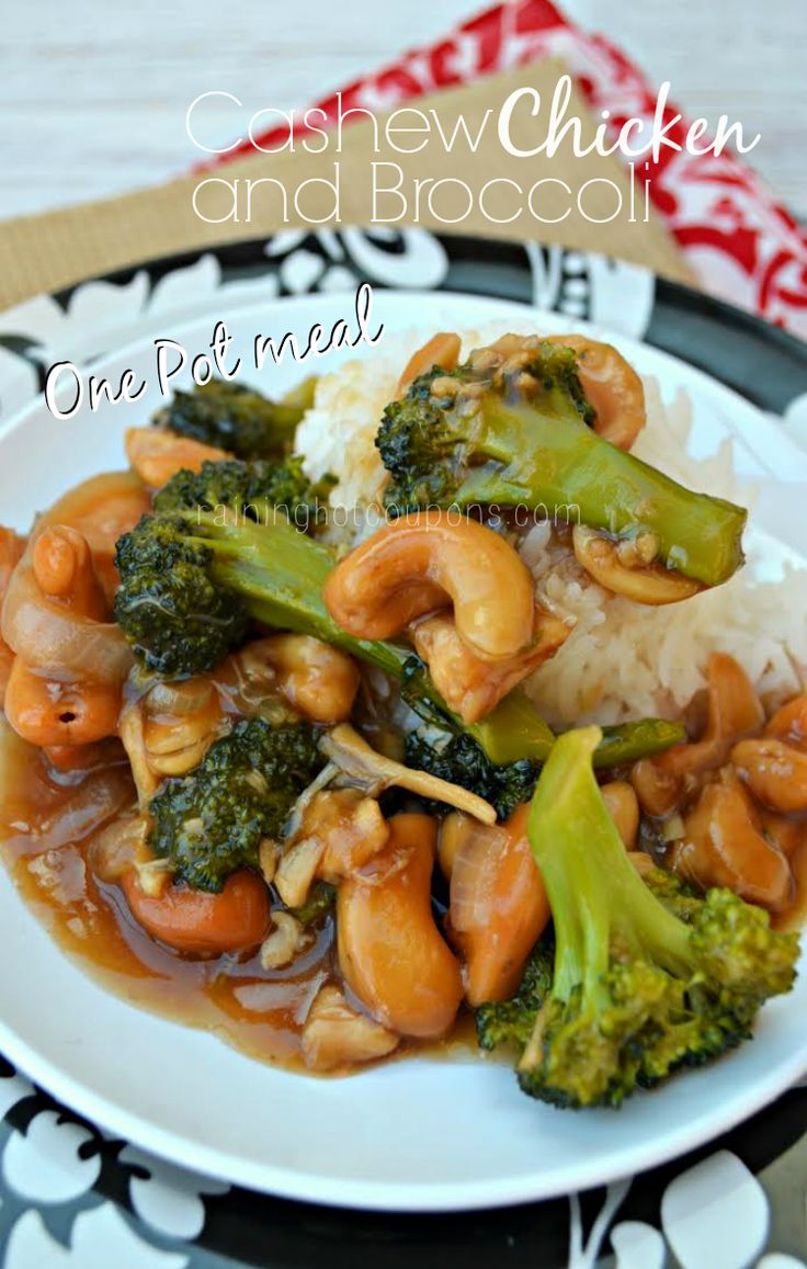 *Get more RECIPES from Raining Hot Coupons here* *Pin it* by clicking the PIN button on the image above! Repin It Here I've said it before and I'll say it again…I love easy meals. Who doesn't right?! This next recipe is for some delicious Cashew Chicken and Broccoli and one of my favorite things about it …