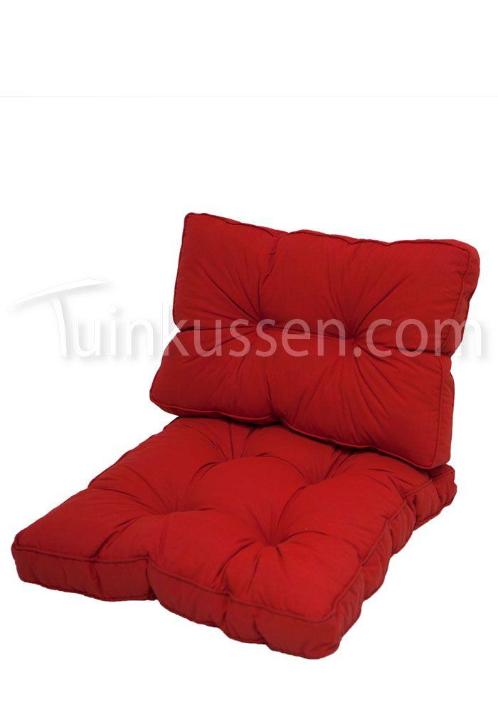 Loungekussen zit- en ruggedeelte - Basic Red