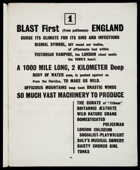 Creator: Vorticists Date: 1914 http://www.tate.org.uk/context-comment/blogs/blast-radical-vorticist-manifesto
