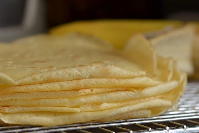 Julia Child's Crepe Recipe. Put Nutella in them and Mmmmm :)