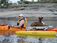 Kayak Outriggers - kayRak system for pup friendly kayaking