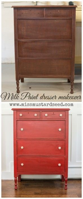 Tricycle Highboy Dresser Makeover - Miss Mustard Seed