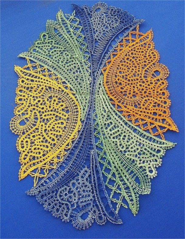 Bobbin Lace - pattern inspiration for Bruges Crochet or Romanian Point Lace Crochet