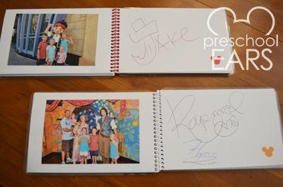 DIY Disney: Autograph Books | Preschoolears Blog