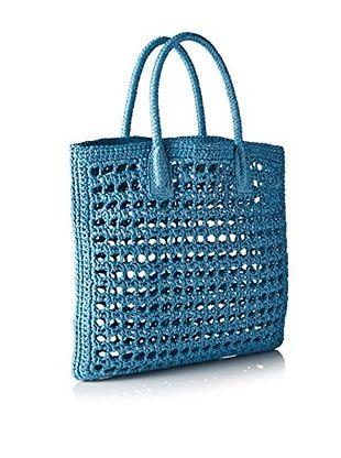 Dolce & Gabbana Bolso asa al hombro + Organizador Interior (Azul Claro)