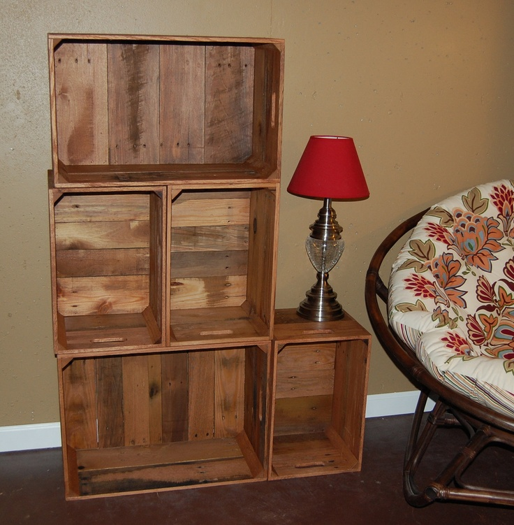 DIY it with crates from Home Depot + stain