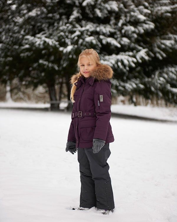 VER de TERRE | Girls jacket w/belt & fur | AW13