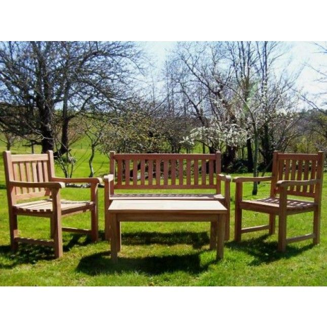 This Really Is A Superb Sustainable Teak Garden Bench Set And Comprises A  Richmond Teak Garden