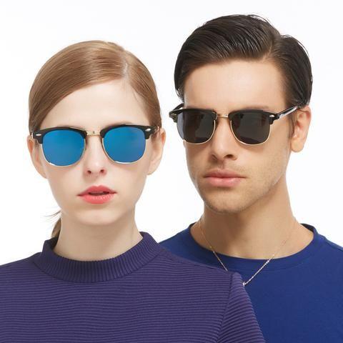 FEIDU 2016 Polarized Square Sunglasses Men Brand Design Women Retro Half Frame Sun glasses For Men Driving Gafas Oculos De Sol