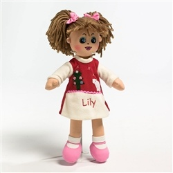 Personalised christmas rag doll.  New to wowwee.ie. presented in beautiful christmas gift box.  Special edition only