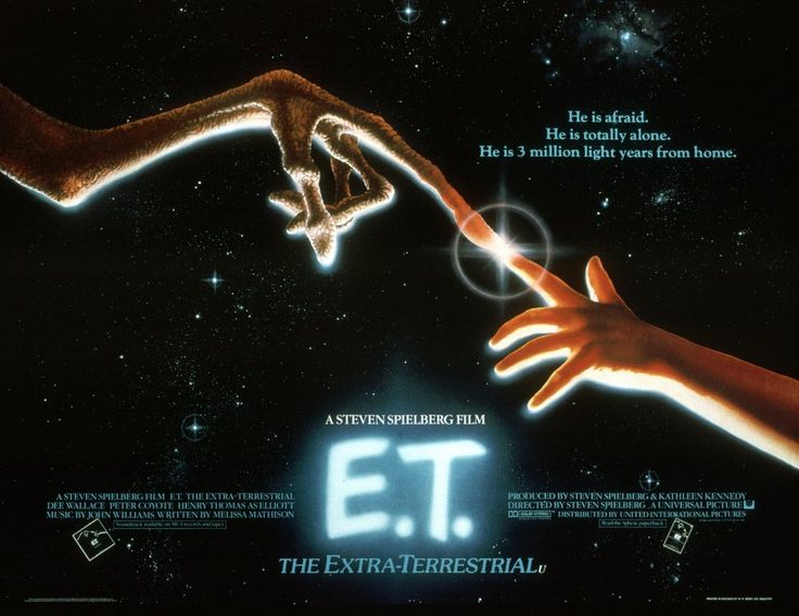 John Alvin's poster design for E.T. the Extraterrestrial (1982), inspired by the 'touch' in Michelangelo's painting The Creation of Adam