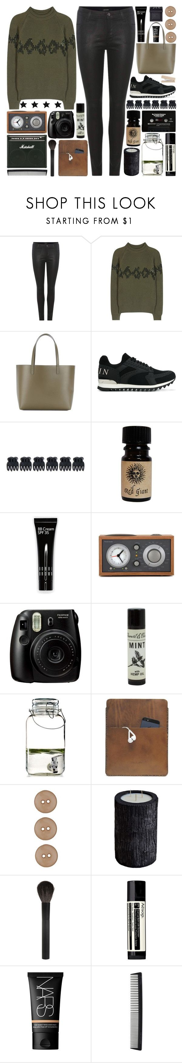 """""""All I gave to you was my time, my green, my favorite jeans, and everything you choose"""" by pure-and-valuable ❤ liked on Polyvore featuring J Brand, Nina Ricci, Mansur Gavriel, Philipp Plein, Accessorize, Bobbi Brown Cosmetics, CASSETTE, Tivoli Audio, Fujifilm and The Cellar"""