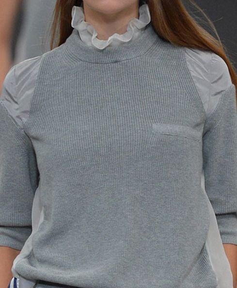 Decorialab Trend Report - Knit and Fabric Mixed - S/S 2014 - Sacai.