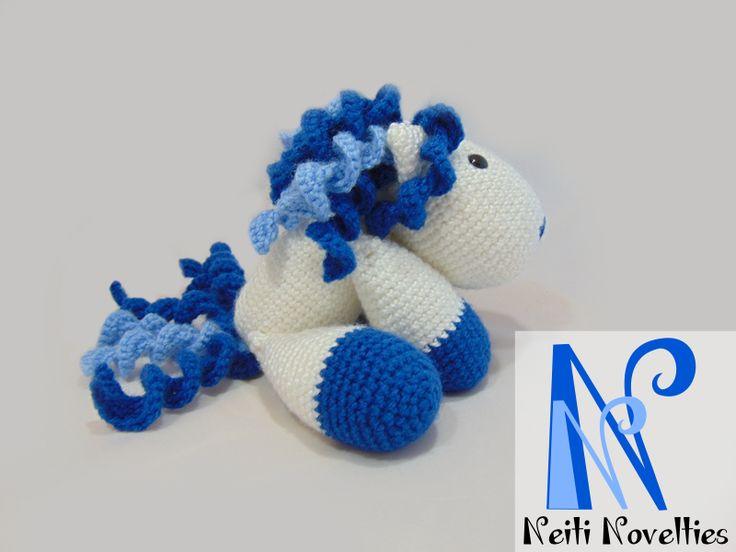 Another crochet pony from Little Yarn Friends pattern :) http://littleyarnfriends.com/post/24411665124/crochet-pattern-lil-baby-unicorn