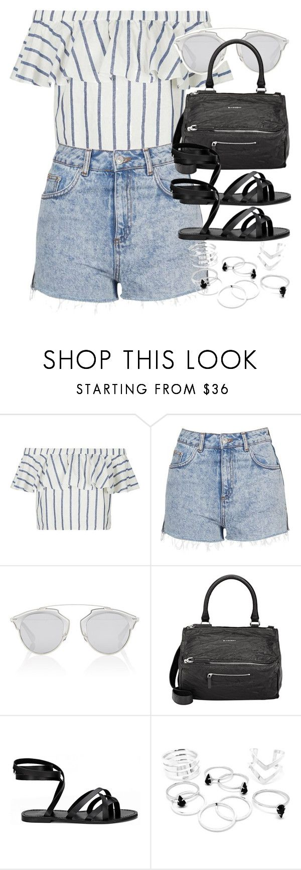 """""""Style  #10764"""" by vany-alvarado ❤ liked on Polyvore featuring Topshop, Christian Dior and Givenchy"""
