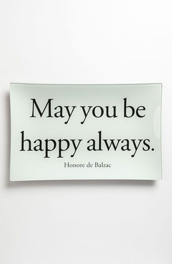 Ben's Garden 'May You Be Happy Always' Decorative Glass Tray available at