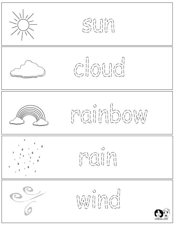 Spring Printouts English  English for Kids - http://www.chillola.com