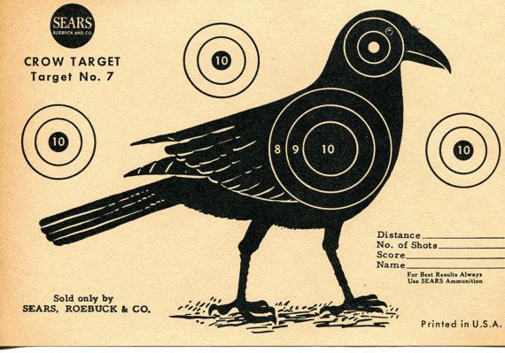 Vintage Shooting Target / Crow II by bidbklyn on Etsy, $10.00
