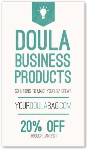 Doula Business Product Sale through end of January www.YourDoulaBag.com
