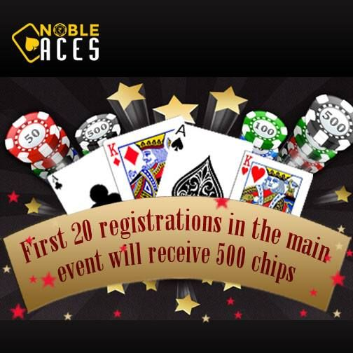 First 20 Registrations for 2 Lakhs GTD Omaha Festival Main Event will receive 500 Chips as soon as the tournament starts. Tournament starts at 11 PM Today. #OmahaFestival #NobleAces