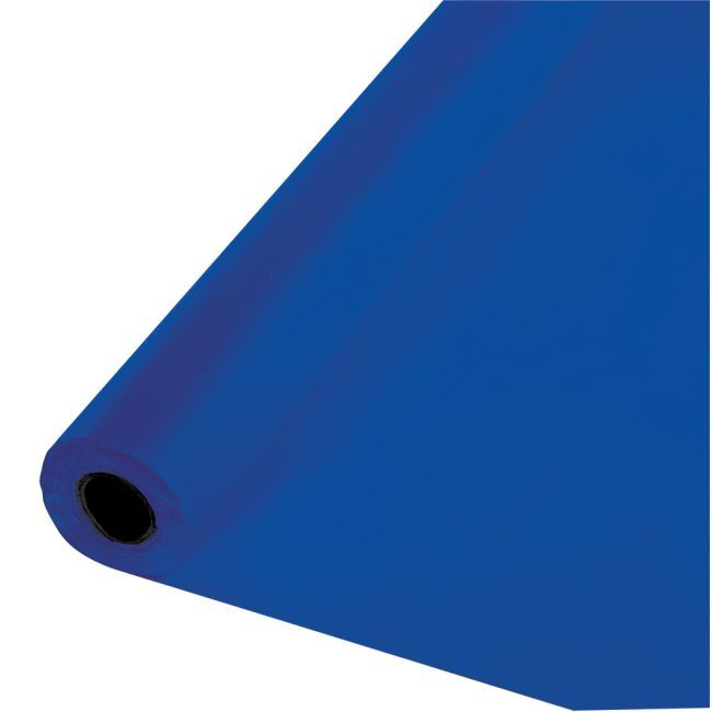 Cobalt Blue Plastic Tablecloth 100 Foot Roll Party Table Cloth Banquet Tables Creative Converting