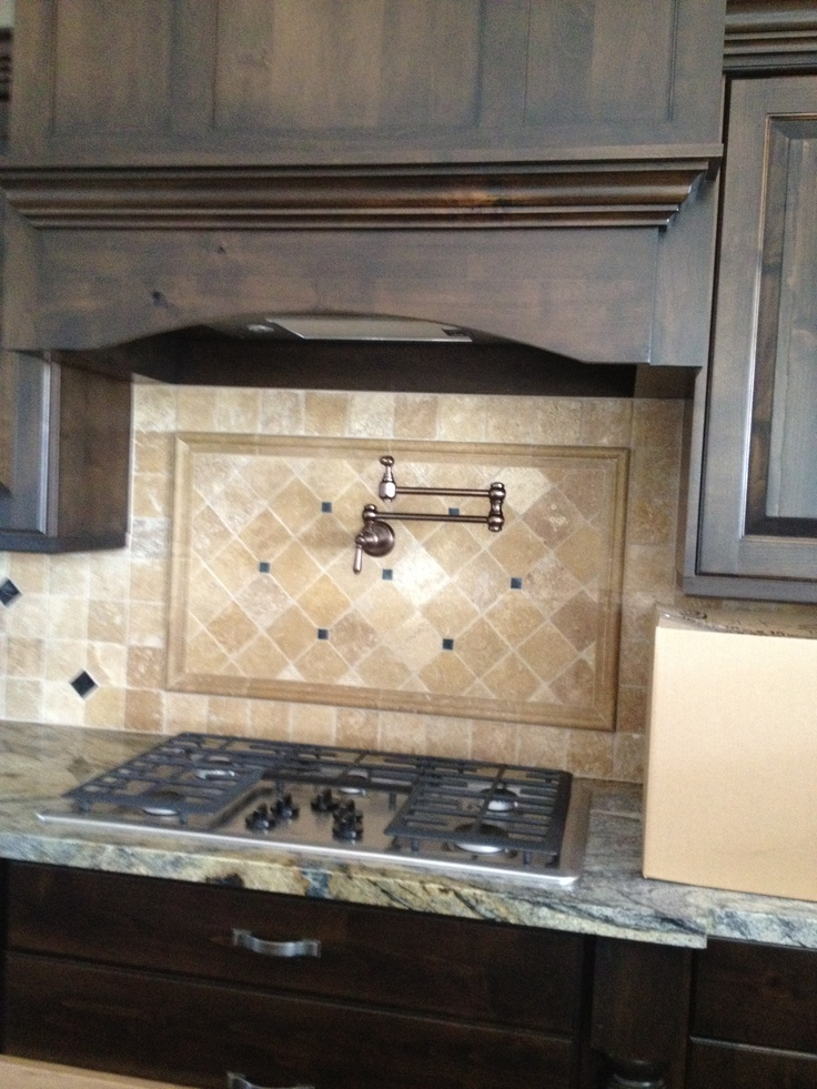 14 best stove backsplash images on pinterest credenza for Stove kitchen design