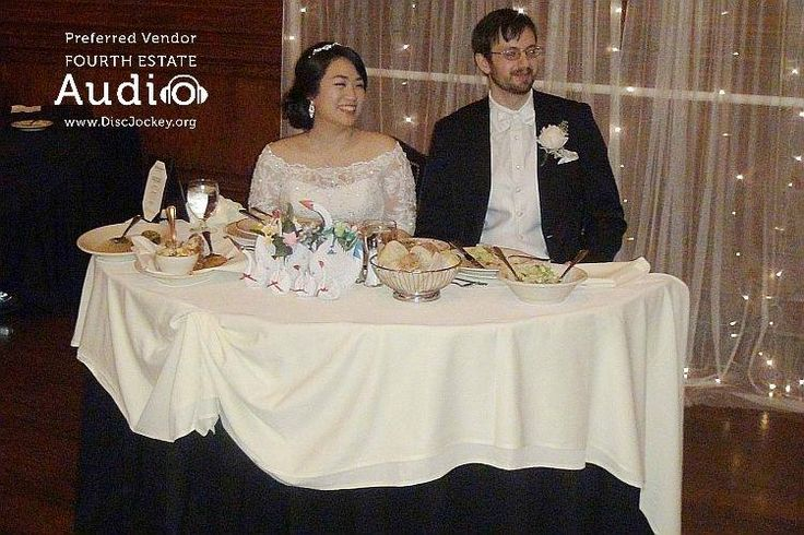 Gloriana and Steve surveyed their domain from their sweetheart table. http://www.discjockey.org/real-chicago-wedding-march-5-2016/