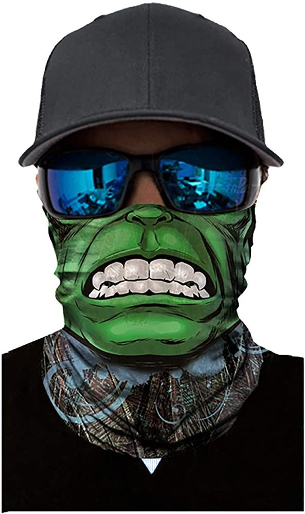 2PCS Bandana Face Mask Women Men Earloop Seamless Neck Gaiter for Dust Wind Sun Protection Outdoor Activities