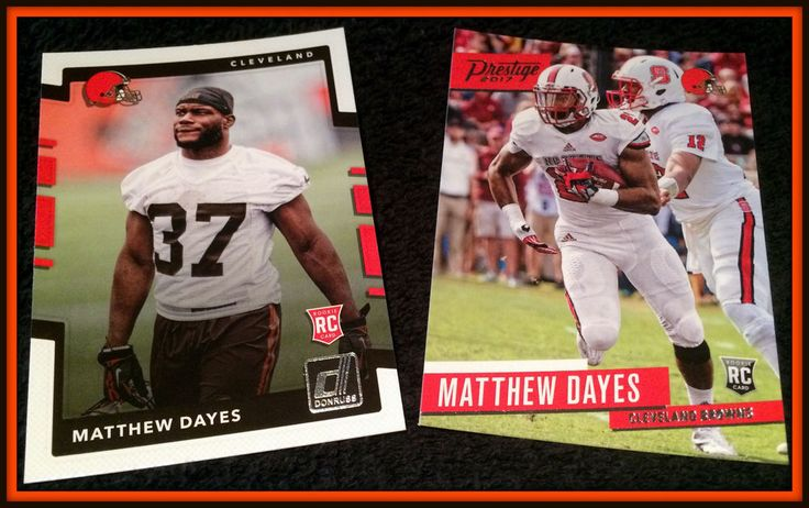 CLEVELAND BROWNS LOT OF 2 2017 MATTHEW DAYES ROOKIES PRESTIGE AND DONRUSS NMMT #ClevelandBrowns