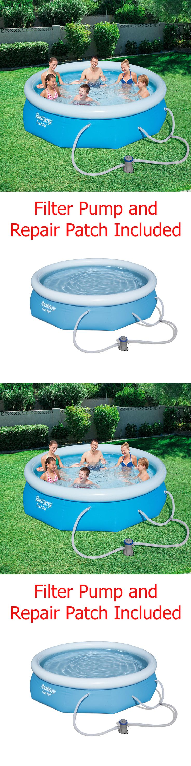 Above-Ground Pools 116405: Above Ground Swimming Pool Set 10 X 30 Inflatable Round Filter Pump Outdoor -> BUY IT NOW ONLY: $60.89 on eBay!