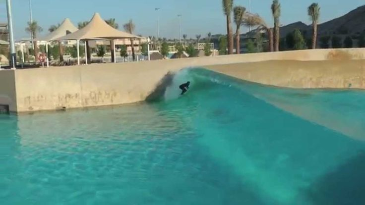 Cool! ....and, no sharks !  Surfing Wave Pool Dubai