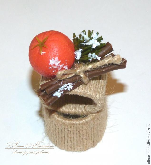 Новогодние кольца для салфеток - Ярмарка Мастеров - ручная работа, handmade
