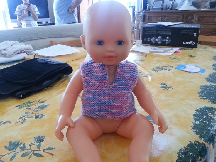 Tricot de poupée au tricot