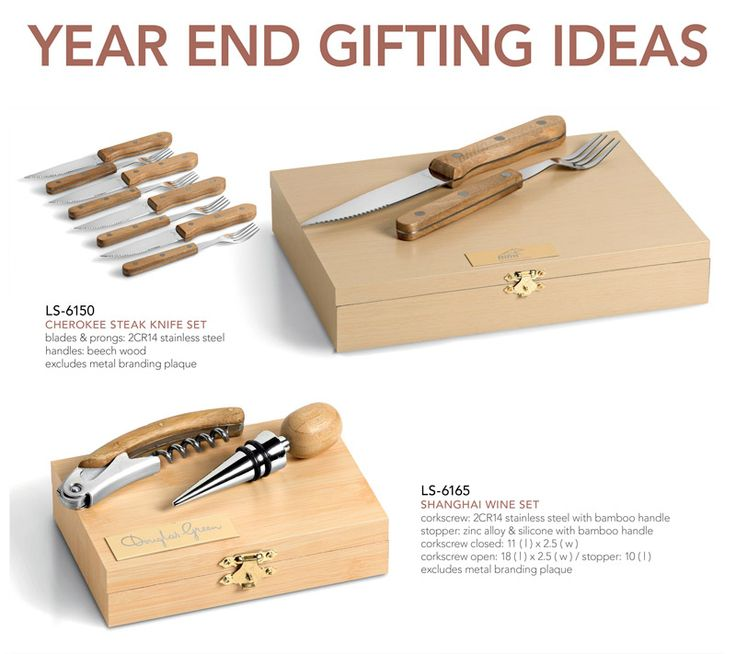 Year-End Gifting Ideas #6  The above knife and wine sets have been client favourites over the past two years. We have plenty of stock on h...