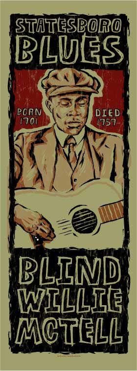 Blind Willie McTell poster