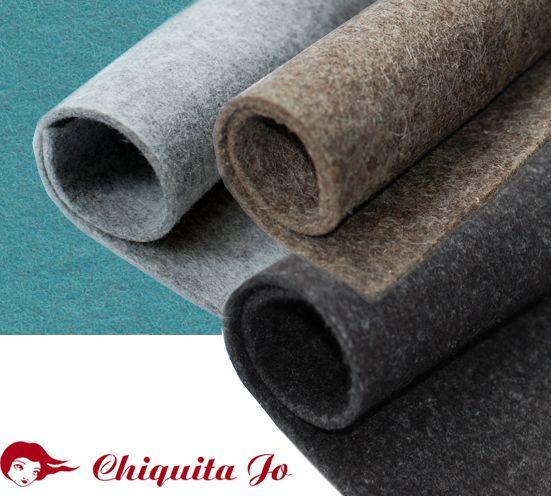 Wir bieten in unserem Shop reiner Wollfilz aus 100 % carbonisierter Wolle  zur Herstellung von Mode- und Designartikeln, für Dekoration und Wohnaccess