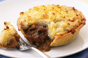 on beef stroganoff. This is the ideal combination of potato topped pie ...