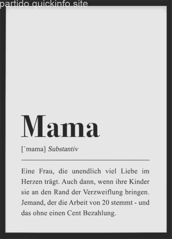 mama definition geschenk für mutter geburtstag mama