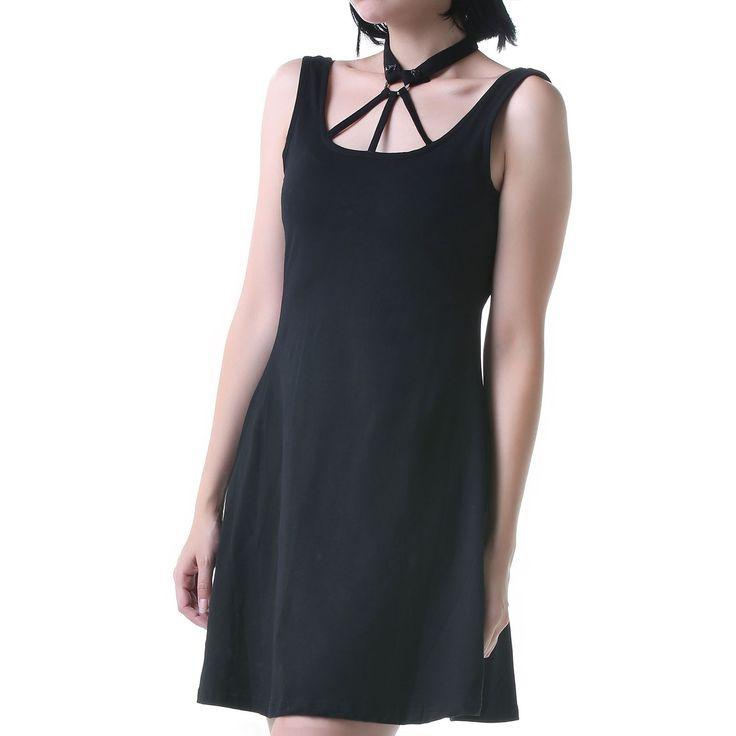 Black and Short Gothic Dress   Crazyinlove International