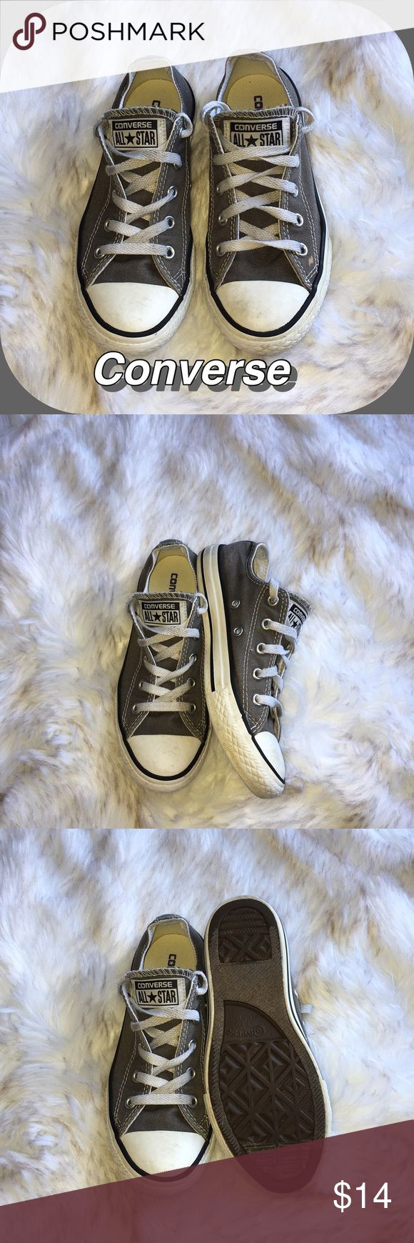 Kids Converse Sneakers Kids Converse Gray Sneakers. Gently Used / Good Condition 🚫No Pay Pal 🚫No Trades 🚫 Converse Shoes Sneakers