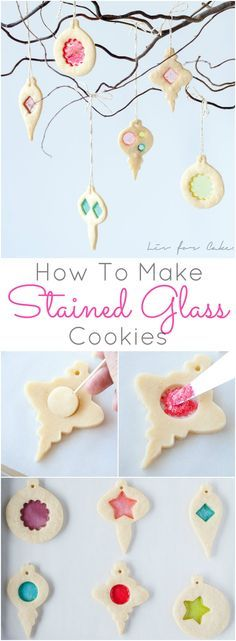 Cookie and candy all in one! Learn how to make stunning stained glass cookies with this detailed tutorial. Perfect for holiday cookie exchanges or for hanging on your Christmas tree! | livforcake.com